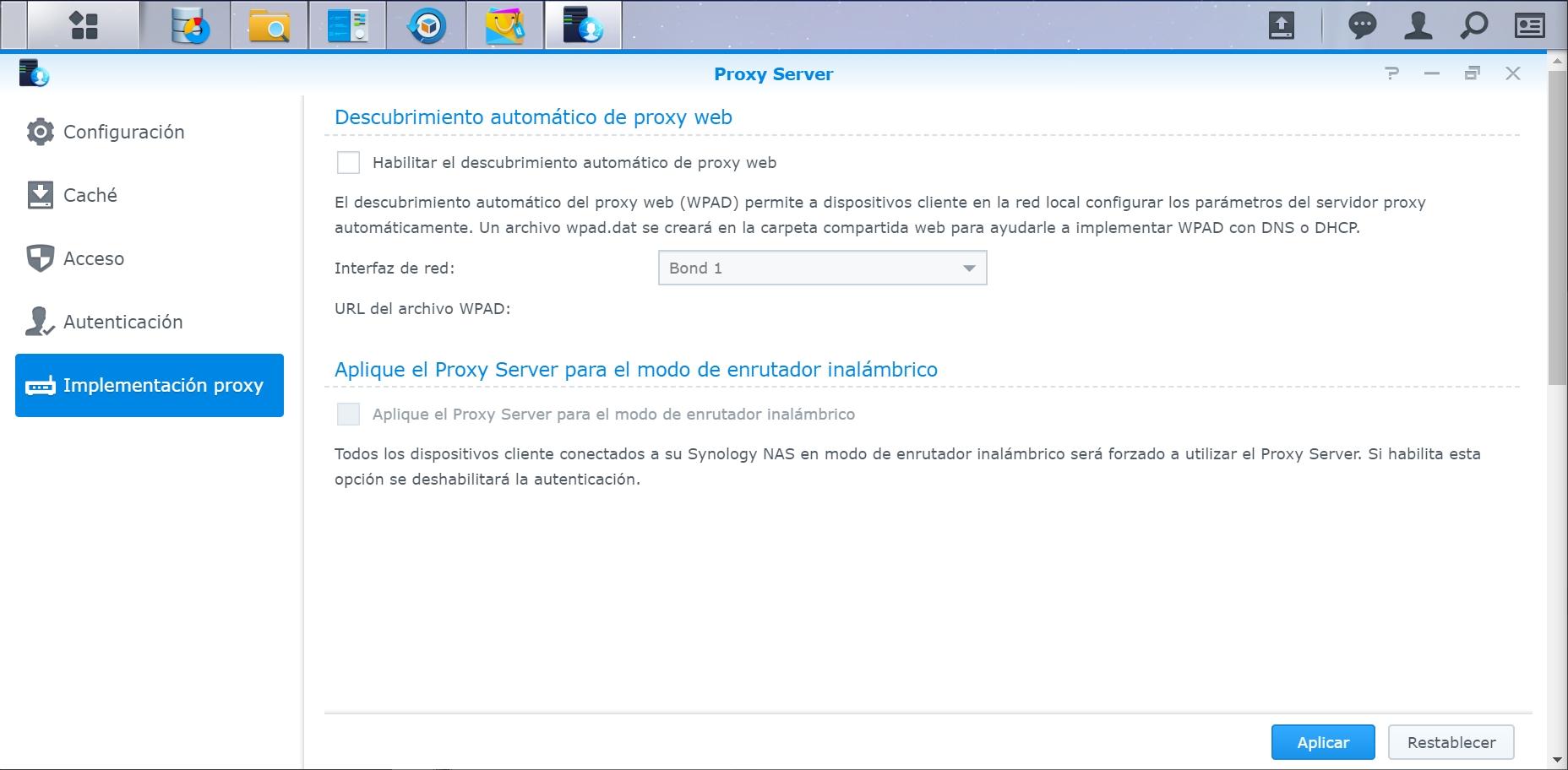 servidor proxy en synology nas
